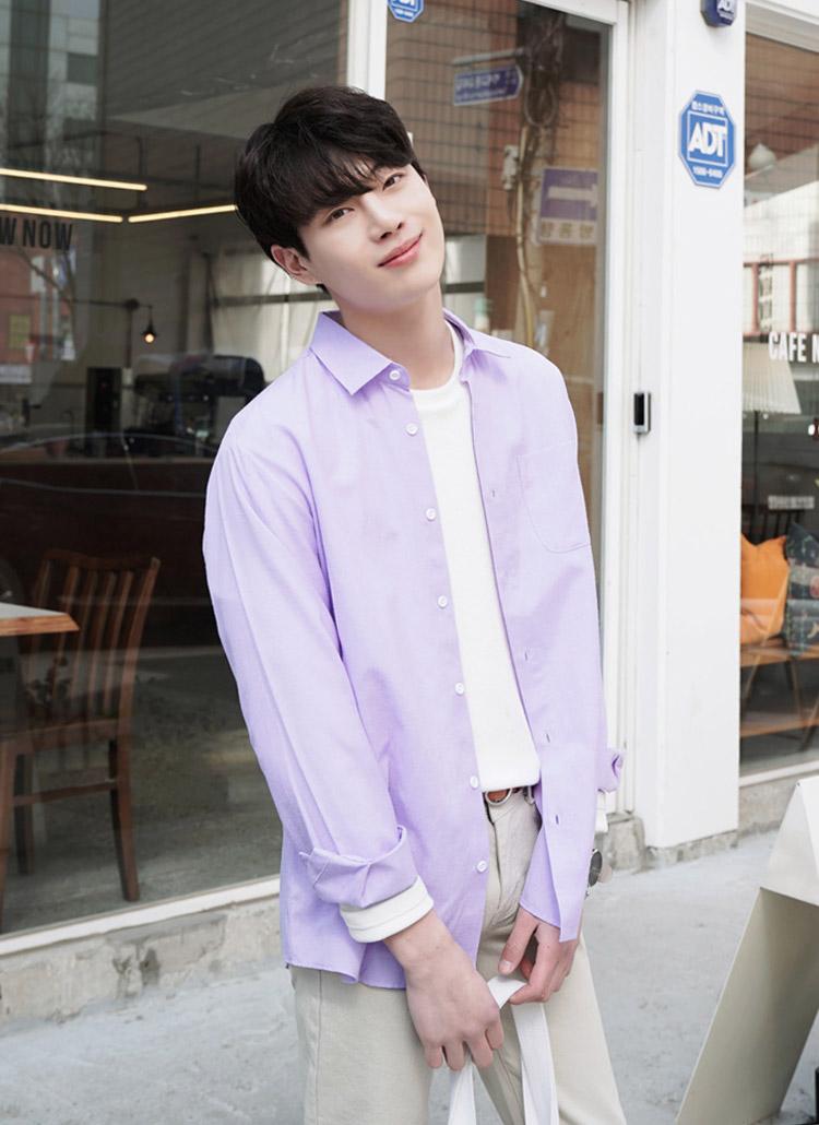 綿混ワンポケットシャツ