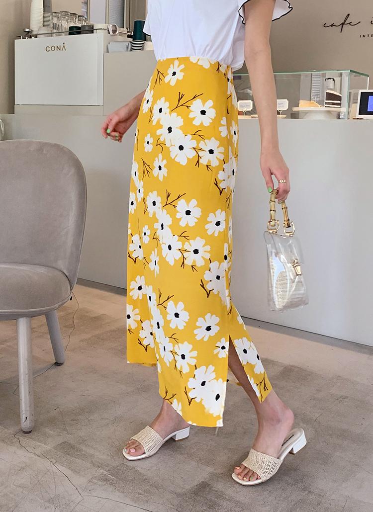 フラワープリントスリットスカート・全2色