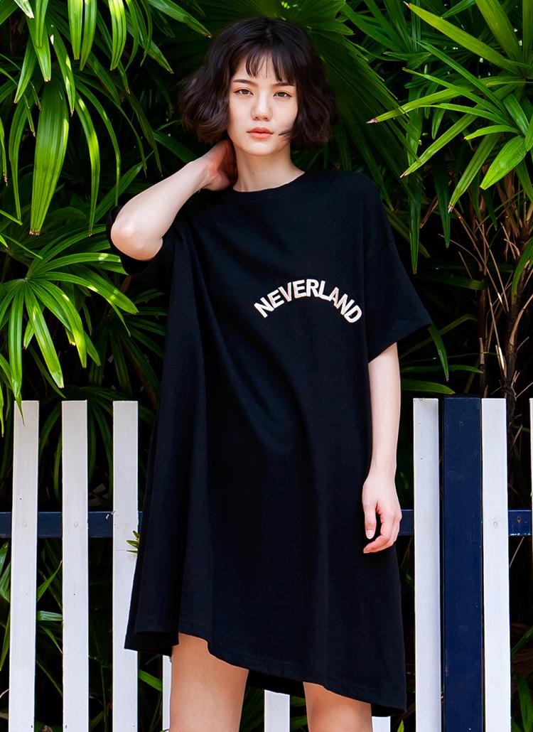 NEVERLANDミディワンピース(ブラック)