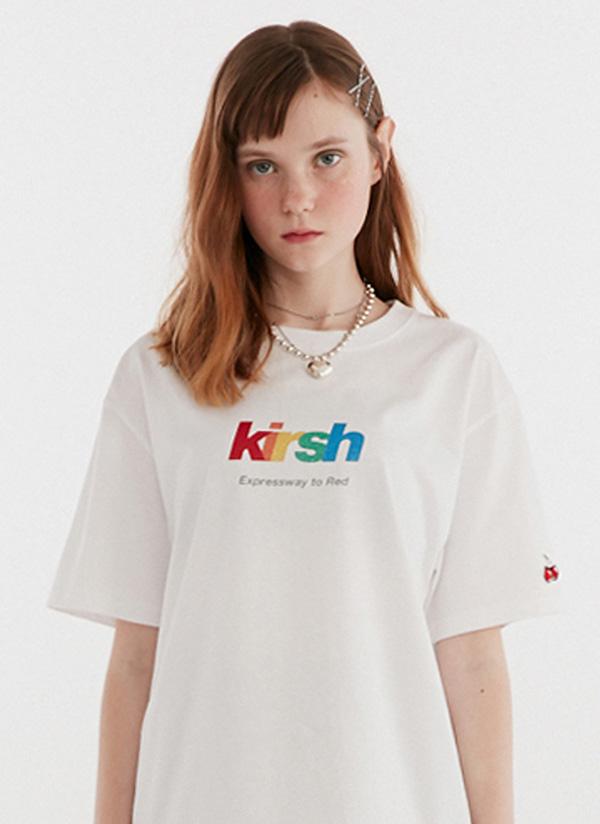 グリッターレインボーロゴTシャツ(ホワイト)
