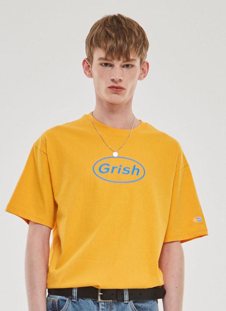 GrishサークルロゴTシャツ(イエロー)