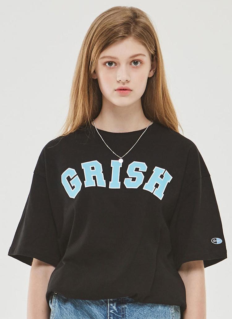 GrishビッグロゴTシャツ(ブラック)