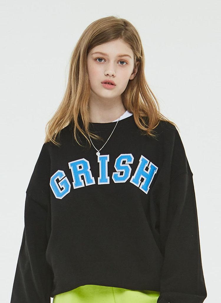 Grishビッグロゴスウェットシャツ(ブラック)