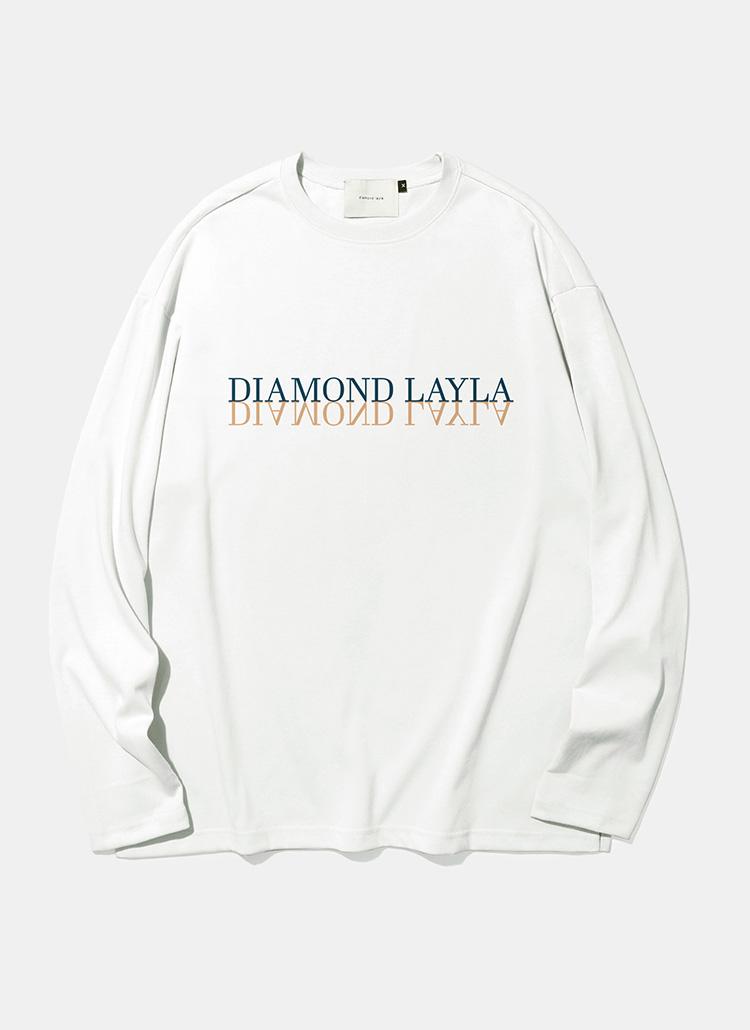 ミラーロングスリーブTシャツ(ホワイト)