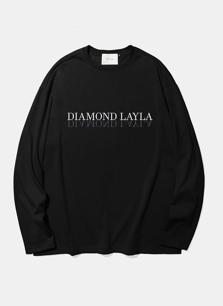 ミラーロングスリーブTシャツ(ブラック)