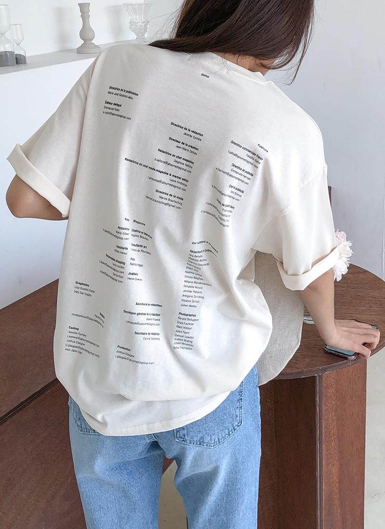 バックプリントオーバーTシャツ