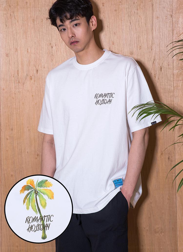 ロゴプリント半袖Tシャツ(ネイビー)