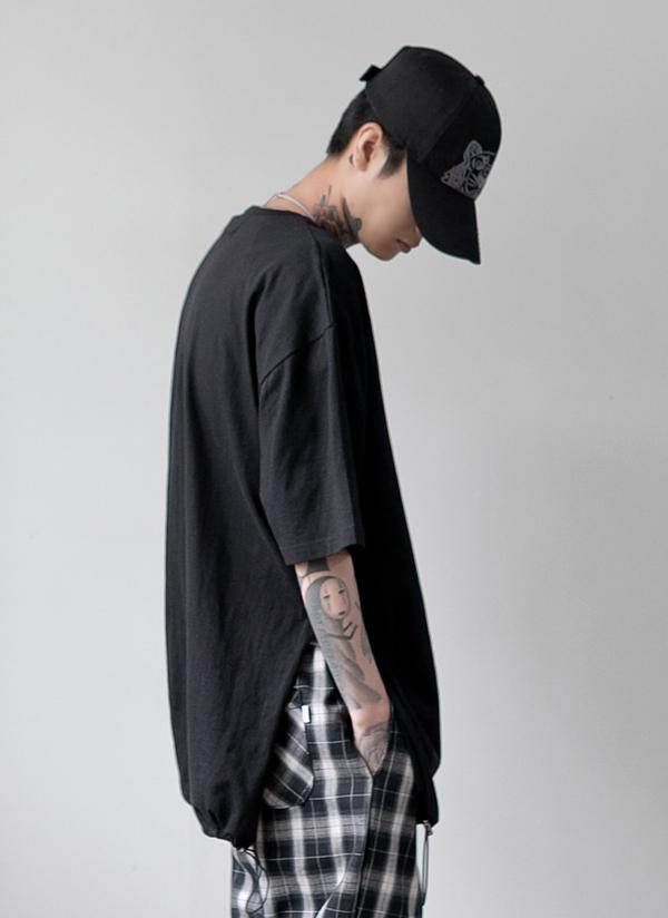 サイドスリットストリングTシャツ