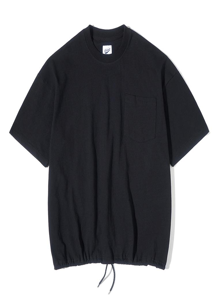 ドローストリングオーバーサイズTシャツ(ブラック)