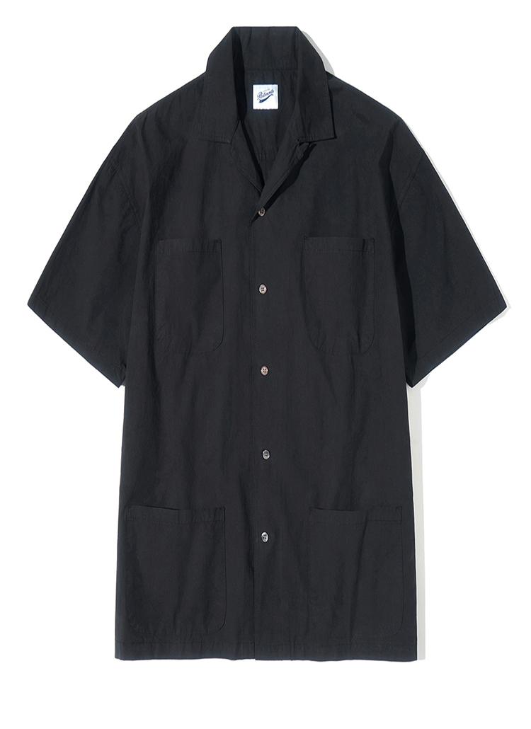 4ポケットハーフスリーブシャツ(ブラック)