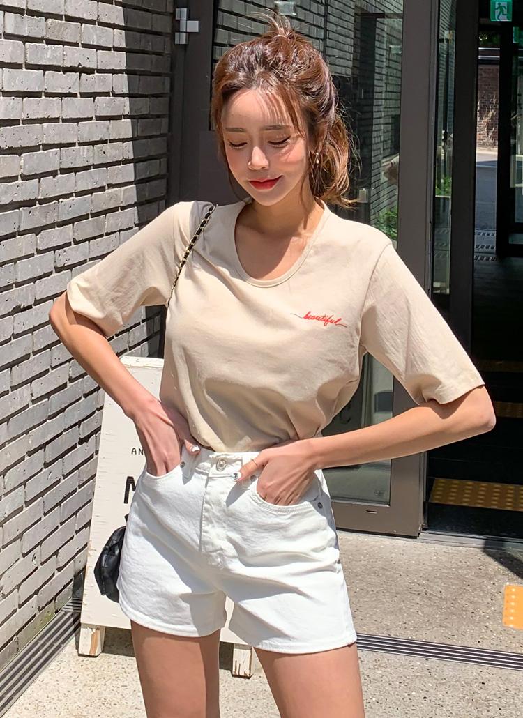 beautifulミニレタリングTシャツ