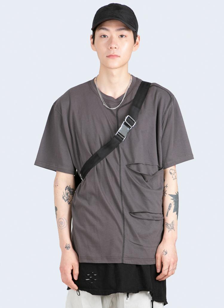 カットステッチポイント半袖Tシャツ