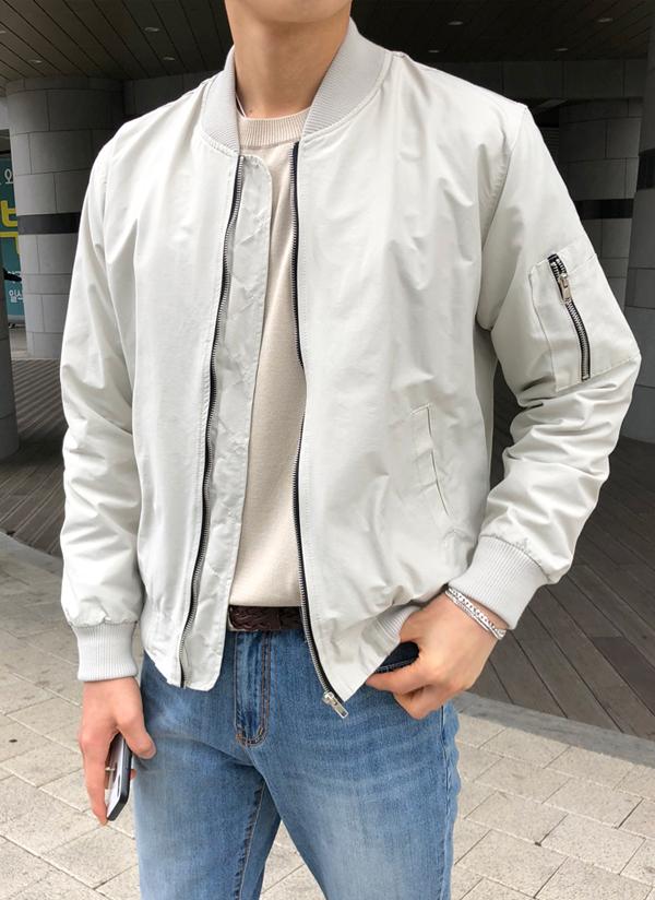 スリーブポケットMA-1ジャケット