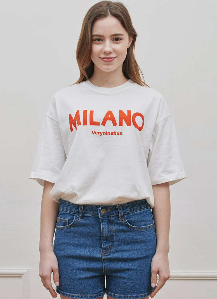 MILANOバックイラストTシャツ(ホワイト)