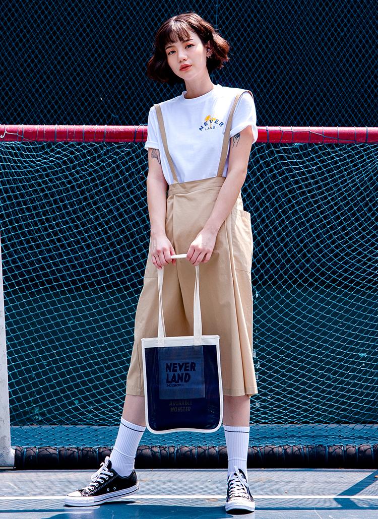 Aラインジャンパースカート(ベージュ)