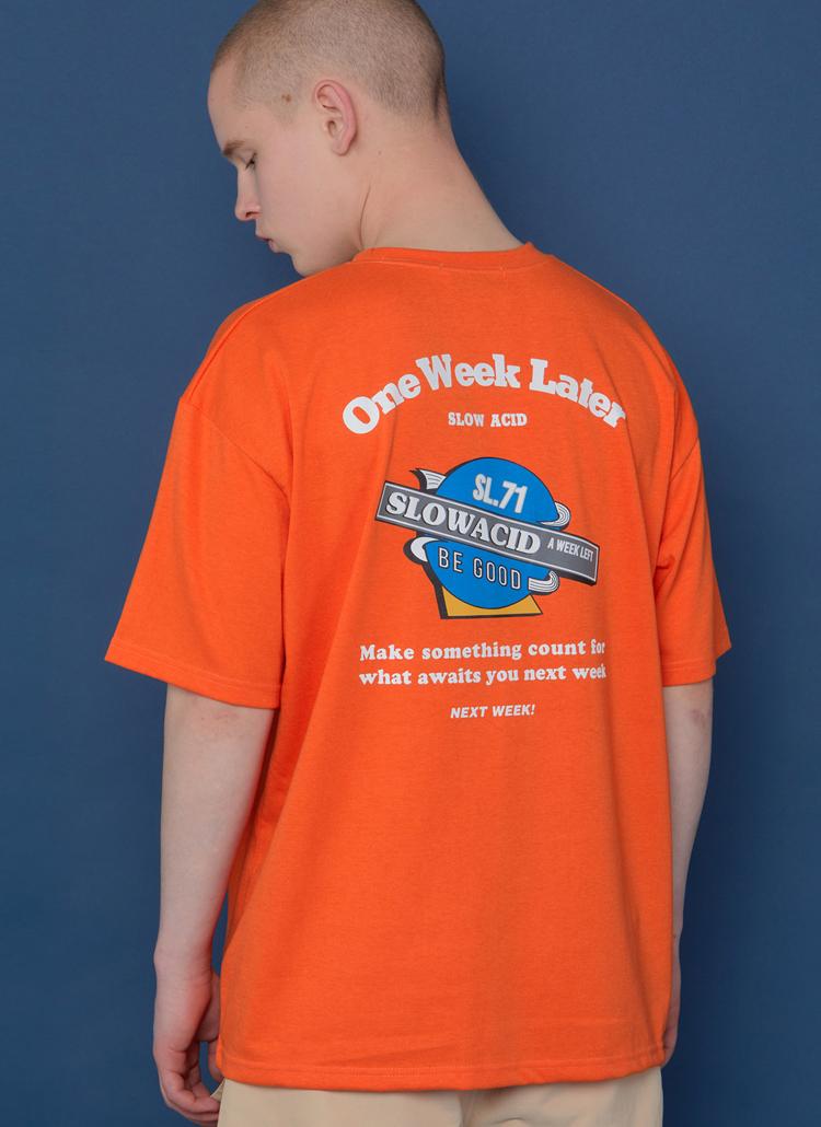 Planetロゴ半袖Tシャツ(オレンジ)