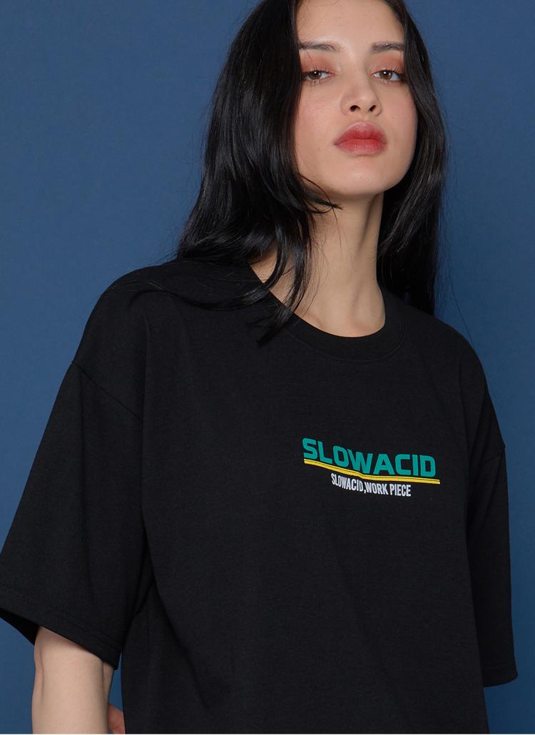 カラーロゴ半袖Tシャツ(ブラック)