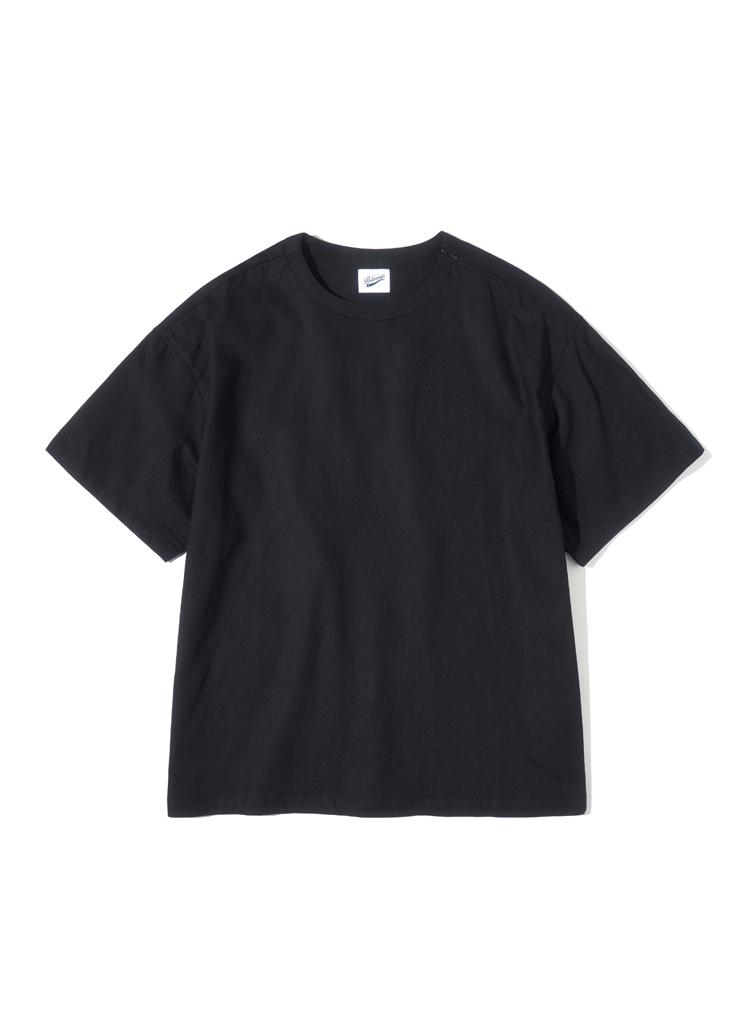 ジッパーディテールTシャツ(ブラック)