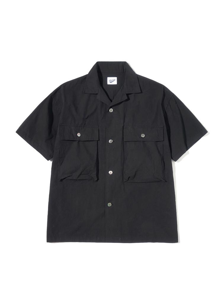 ストラクチャーハーフスリーブシャツ(ブラック)