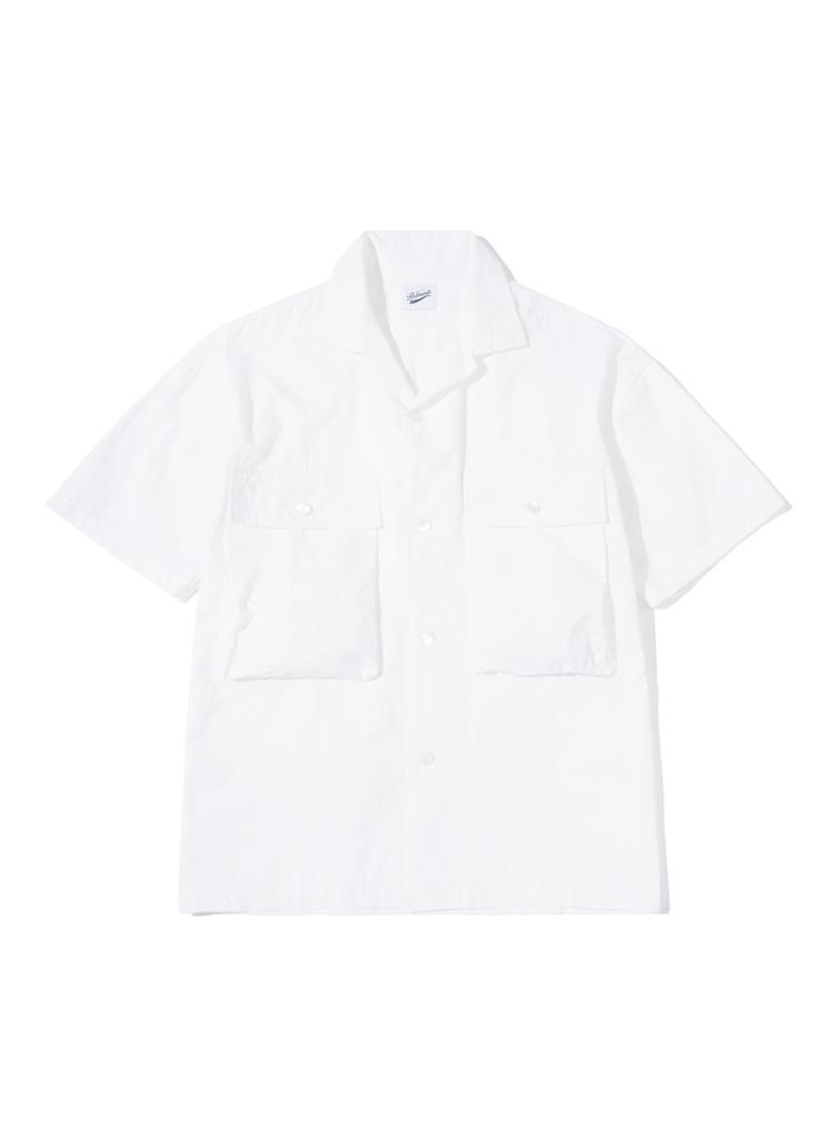 ストラクチャーハーフスリーブシャツ(ホワイト)