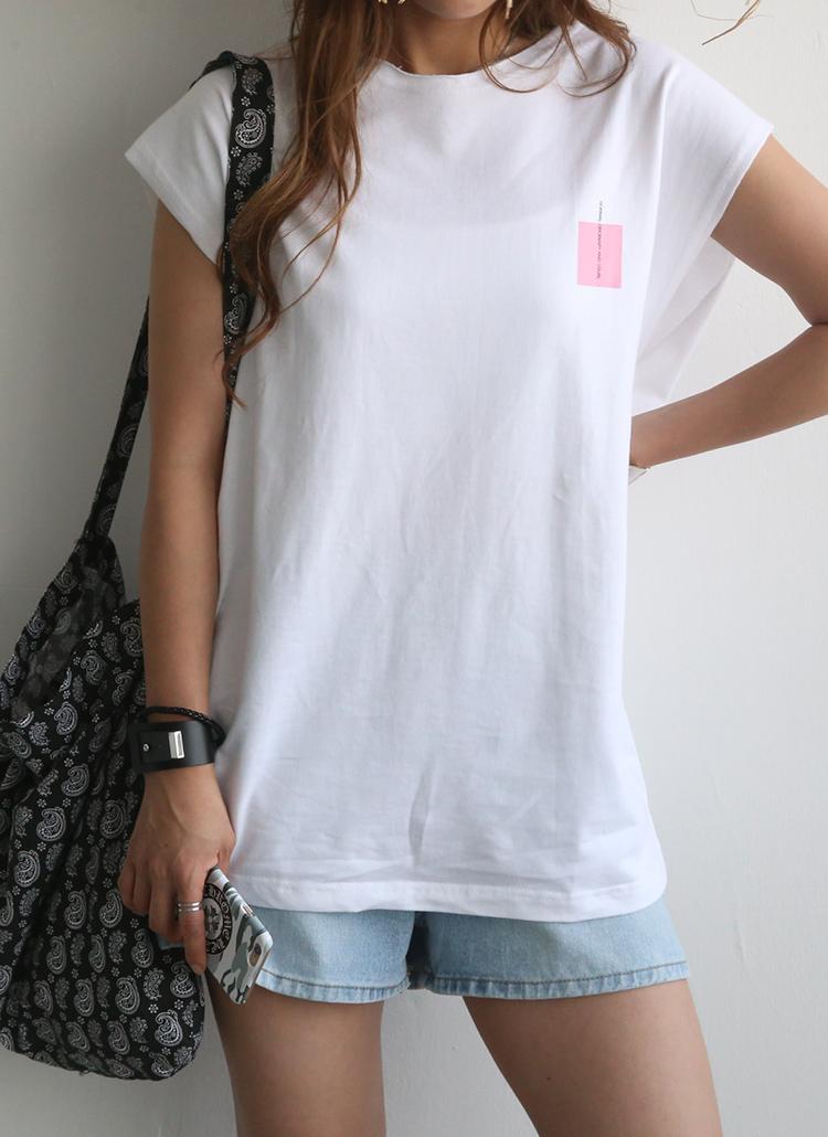normalカラーボックスフレンチTシャツ