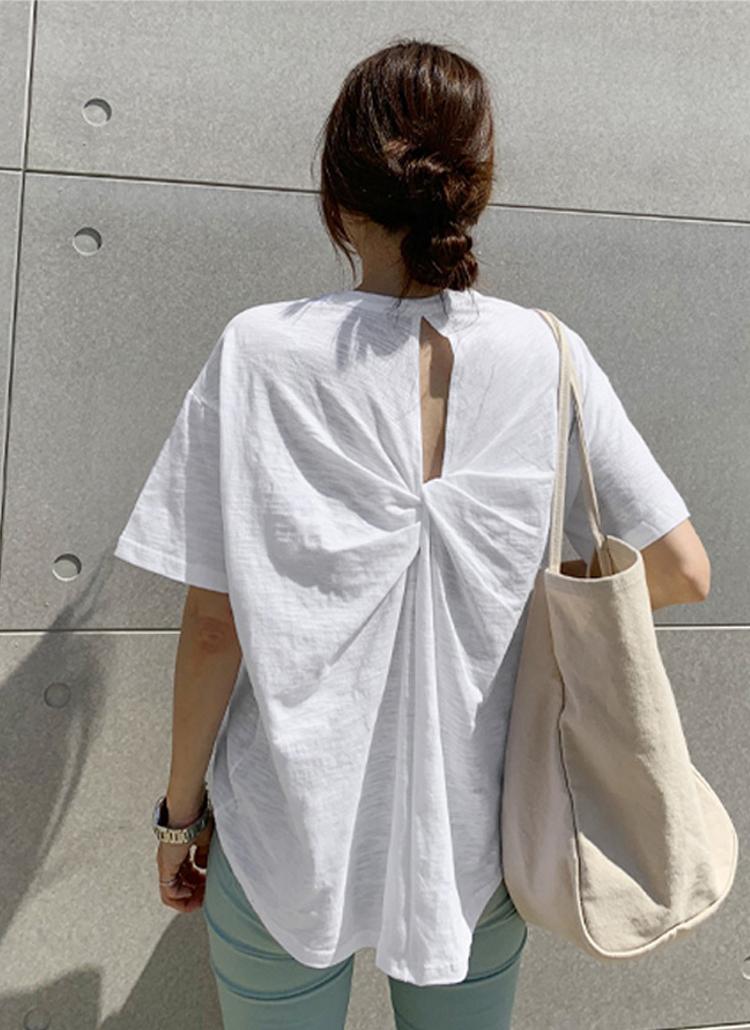バックツイストポイント半袖Tシャツ