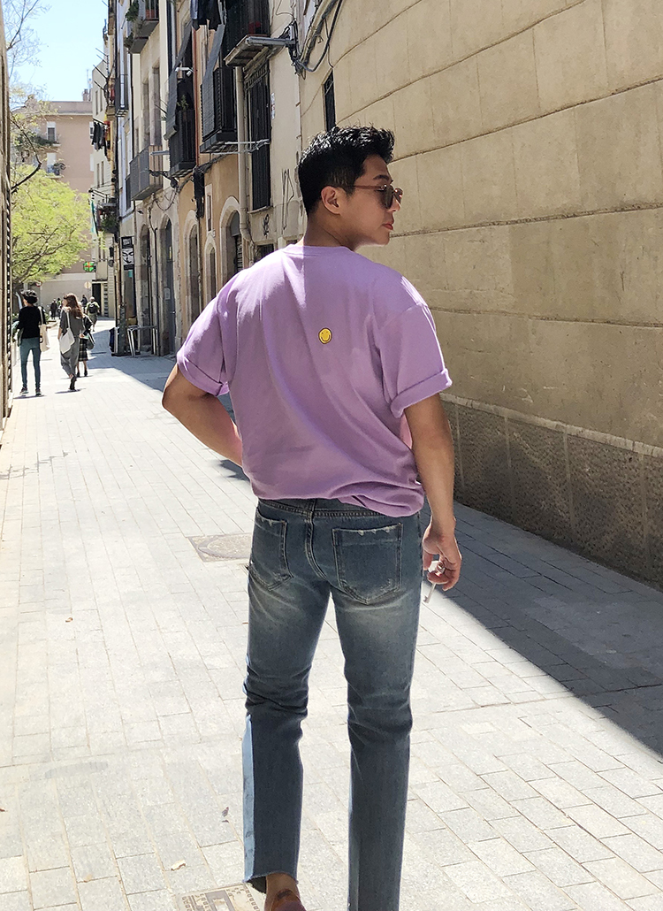 スマイルワンポイント半袖Tシャツ