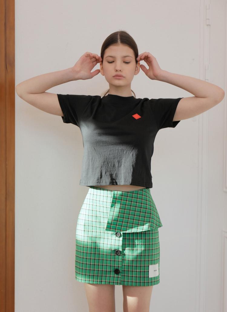 クロップドミニロゴTシャツ