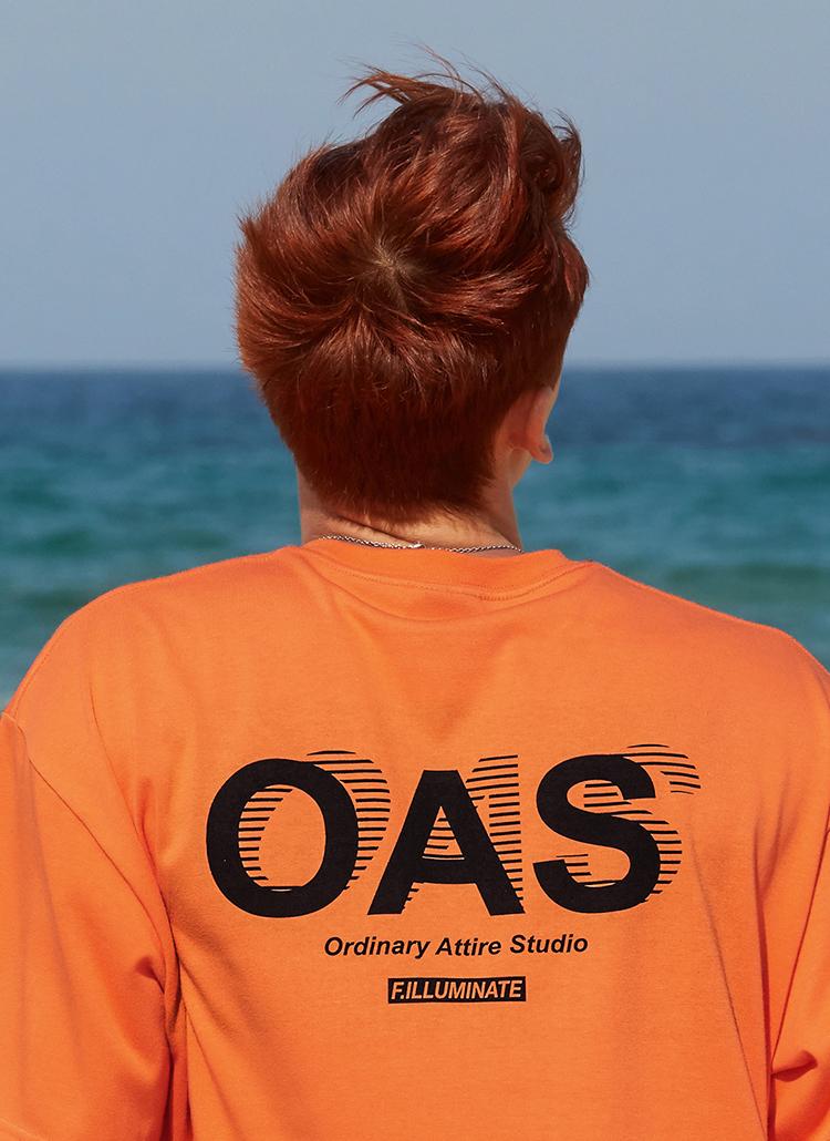 OASバックロゴTシャツ(オレンジ)