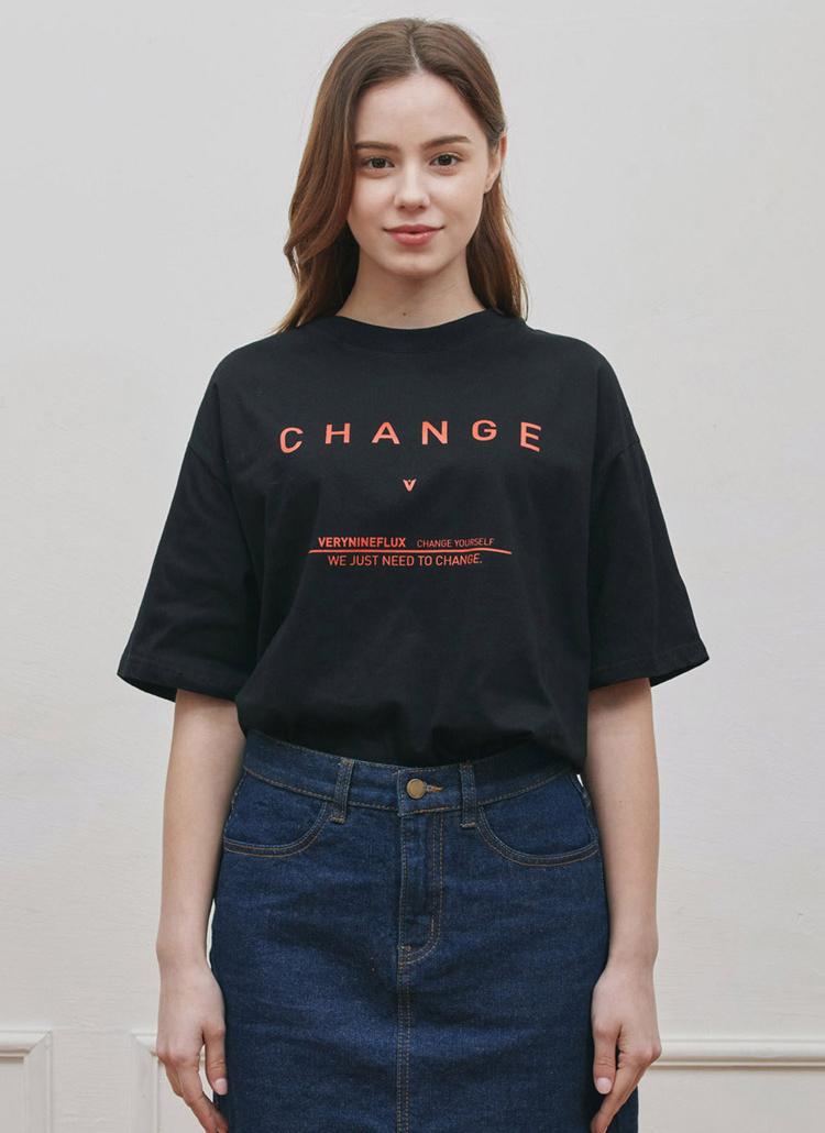CHANGEレタリングTシャツ(BLACK)