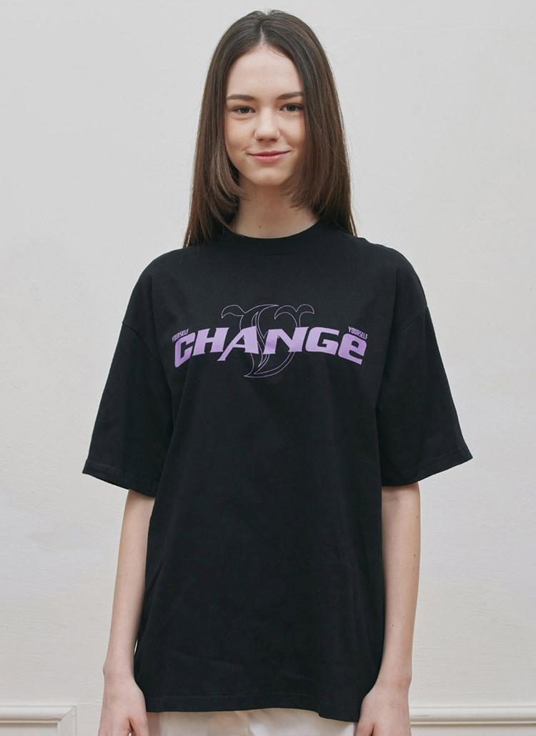 CHANGEワンポイントTシャツ(BLACK)