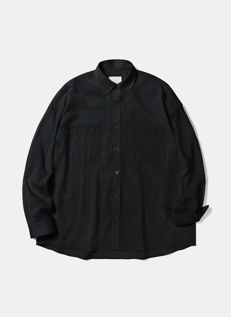 クールポリオーバーフィットシャツ(ブラック)