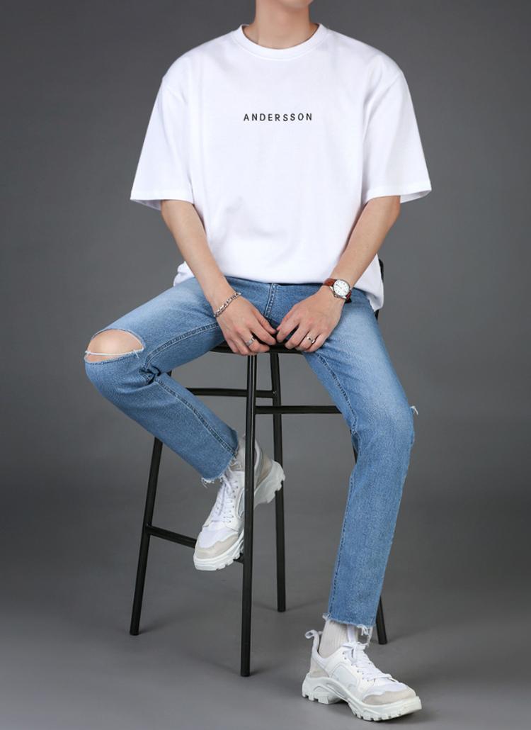 Andersonレタリング半袖Tシャツ
