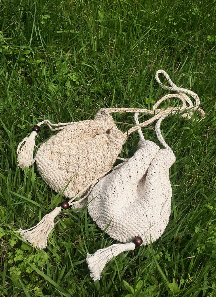 ニット巾着ショルダーバッグ・全2色