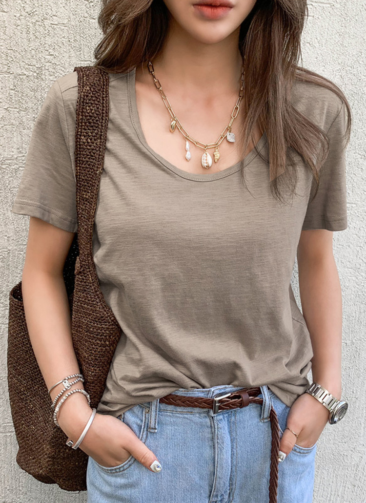 スラブ半袖Tシャツ