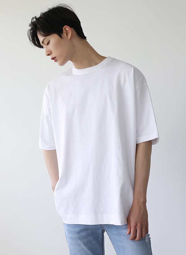 スリットラウンドネックTシャツ