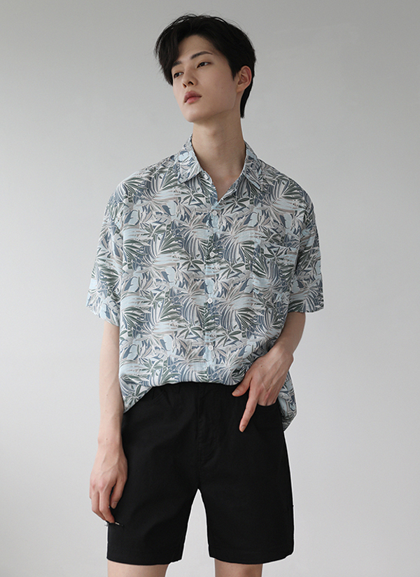 半袖ハワイアンパターンシャツ