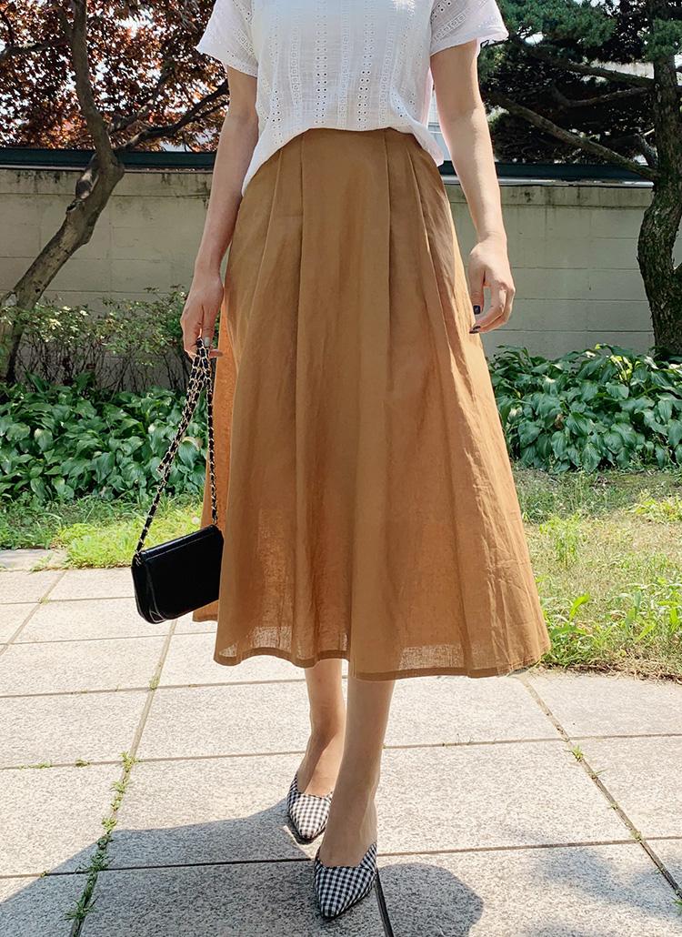 ツータックフレアスカート・全3色