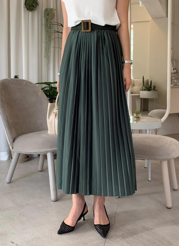 プリーツロングスカート・全3色