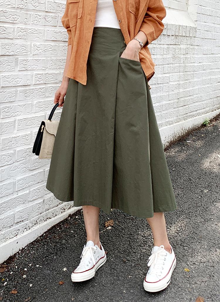 タックポケットスカート・全3色