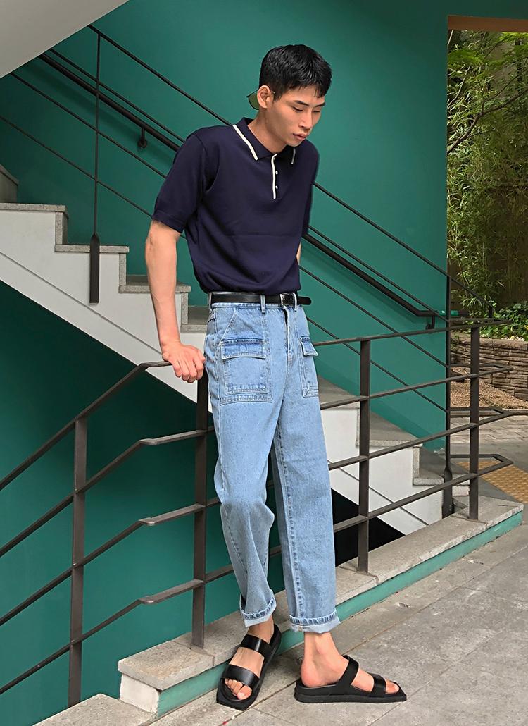 フラップポケットジーンズ