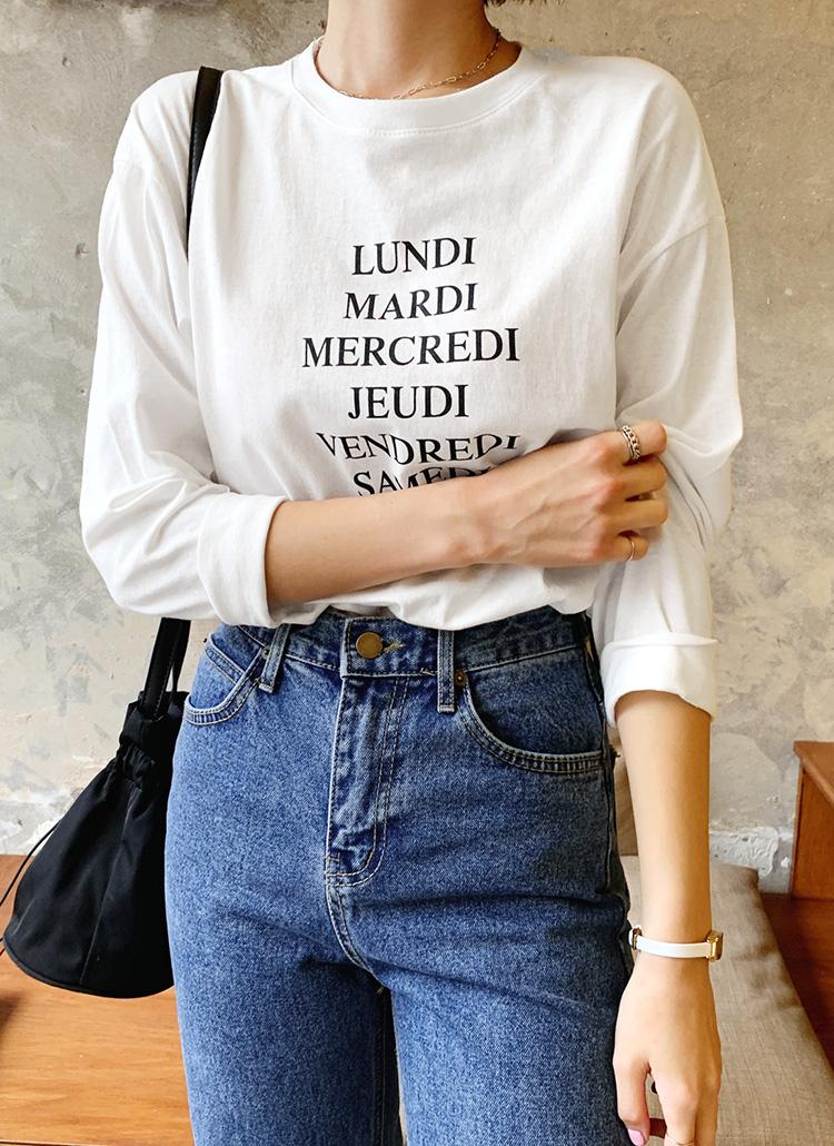 プリントルーズTシャツ・全5色