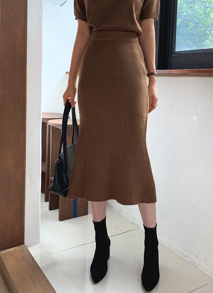 ニットマーメイドスカート・全4色