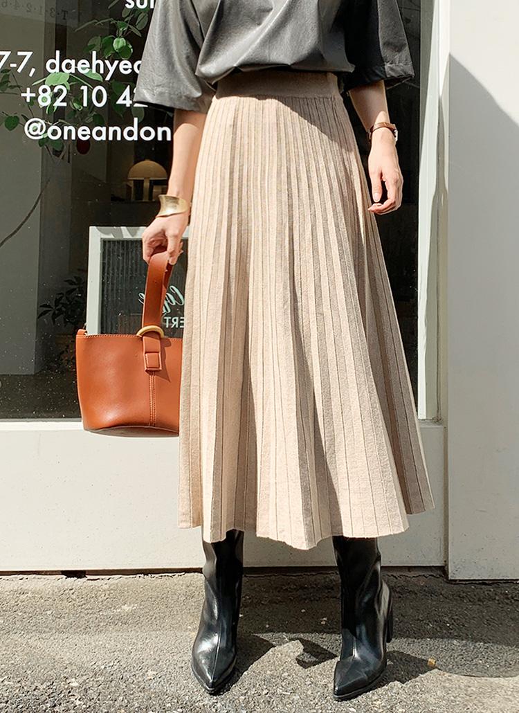 プリーツニットスカート・全3色