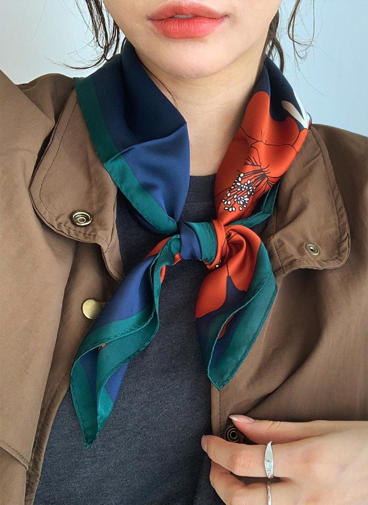 フローラルスカーフ・全4色