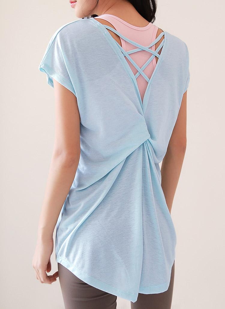 バッククロスツイストTシャツ・全2色