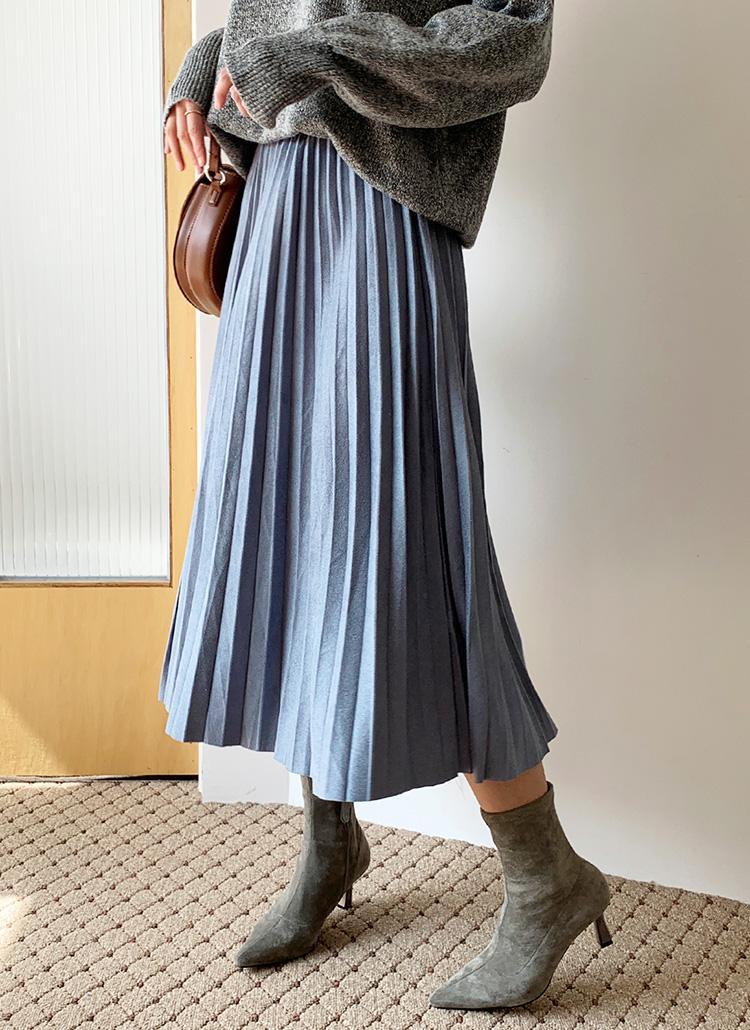 ウエストゴムプリーツスカート・全5色