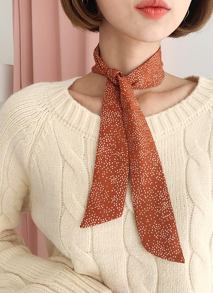 ドットツイリースカーフ・全3色