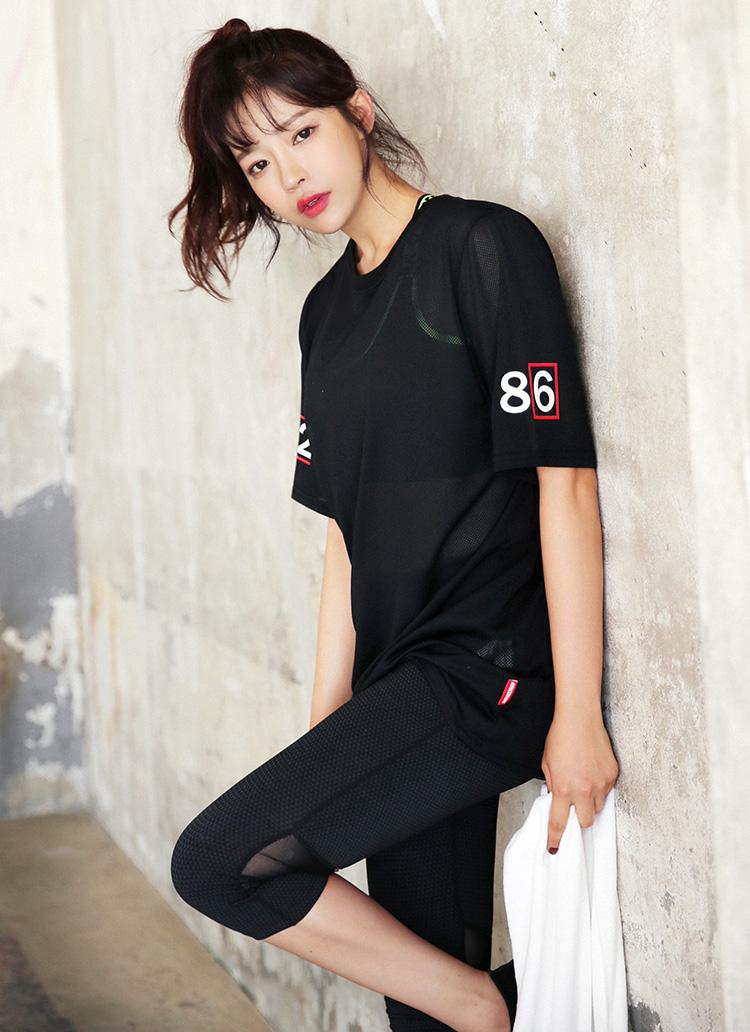 ナンバープリントメッシュTシャツ・全1色