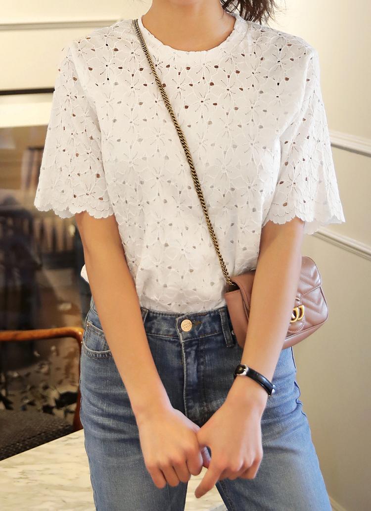 ショートスリーブレースTシャツ・全4色
